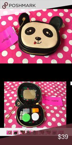 NWT Panda Betsey Johnson Contact Lens Case Charm New Panda Betsey Johnson Contact Lens Case Charm + Keychain Pandamonium Betsey Johnson Bags Mini Bags