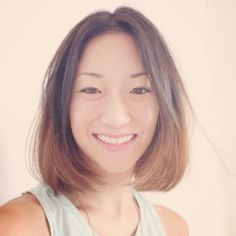 Short, ombre dip dye hair. Yes it can be done on Asian hair!
