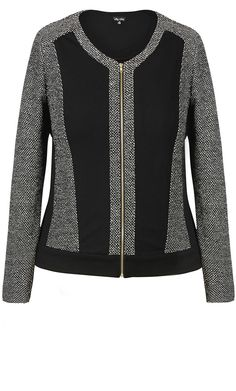 City Chic - CROPPED LUXE JACKET - Women's Plus Size Fashion