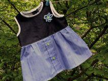 Kleid Baby - Johanna - Größe 74 - blau -