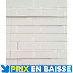 Carrelage mural rubix rectangles artens en fa ence blanc for Carrelage mural 15 x 20 blanc