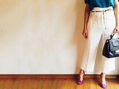 como usar calças de cintura alta :: no blog da oficina http://oficinadeestilo.com.br/2015/03/02/como-usar-calcas-de-cintura-alta/