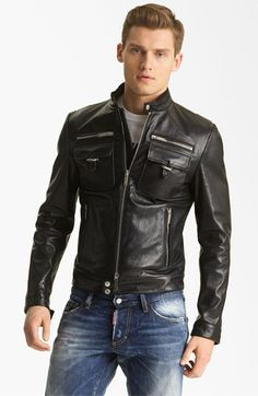 Dsquared2 'Chic' Leather Moto Jacket | Nordstrom