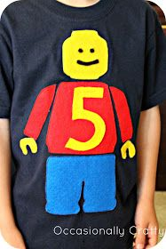 Lego Man Shirt and Birthday Traditions from Occasionally Crafty