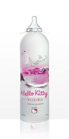 Hello Kitty vodka....why is the cover a nipple, I have NO IDEA!!!! haha