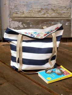 Stripes and Polka Dots: Anthropologie Inspired Tote + Tutorial