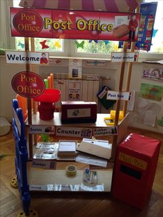 Role play area - post office More