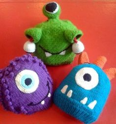 Excruciatingly adorable monster hats from Andes Gifts Portage Bay, Mike And Sully, Monster Hat, Creatures, Christmas Ornaments, Holiday Decor, Cute, Gifts, Cyclops