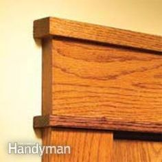 For the window moldings the previous owners of our house tore out, this seems a great way to replace.     How to Install Craftsman Trim: The Family Handyman