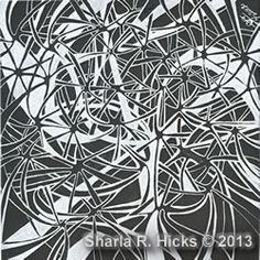 Frosty example by Sharla Hicks, Certified Zentangle Teacher CZT teaching in Anaheim CA