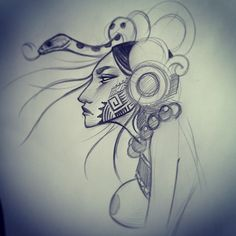 #mayan #goddess #tysont sketching on vacation