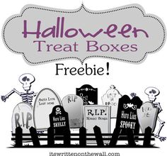 It's Written on the Wall: Freebie Easy Halloween Treat Box/Place Card and Gift