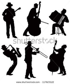 new orleans musician silhouette painting - Google Search