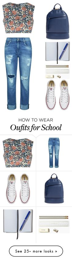 """Back To School! [RTD]"" by mel2016 on Polyvore featuring Glamorous, 7 For All Mankind, Converse, Want Les Essentiels de la Vie, Smythson and Kate Spade"