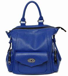 2016 Fashion Women Backpack Leather Blue Shoulder Bag Big School Bags For  Teenagers Girl Travel bagpack Waterproof 6623c9c074726