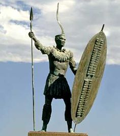 Statue of Shaka Zulu- son of Senzangakhona and Nandi. Soldier and eventually a monarch of the Zulu Kingdom Zulu Warrior, Warrior King, All About Africa, Out Of Africa, African Culture, African American History, African Tribes, African Art, African Royalty