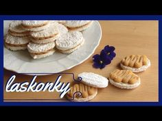 Laskonky s karamelovým krémem - YouTube Christmas Cookies, Cooking Recipes, Breakfast, Cake, Youtube, Kuchen, Food, Xmas Cookies, Morning Coffee