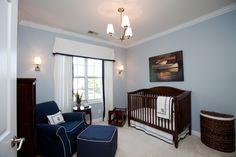 Nautical boys nursery, blue nursery by Loftus Design.