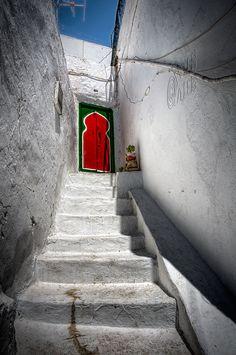 in Sidi Bou Said, a small town near Tunis.