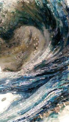 Aqua Forte, created by Mia Tavonatti for the 1st International Symposium for Contemporary Mosaics in Clauiano, Italy