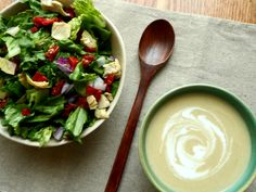 Spicy Island Summer Squash Soup and Salad
