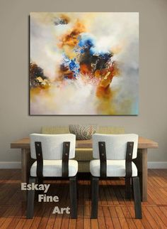 Huge Abstract Mixed Media Painting Vanquish 40 x by Eskayfineart, £1200.00