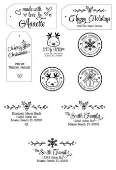 New Holiday Rubber Stamps from Paper Glitter!