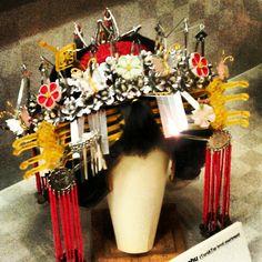 Japanese hair ornaments at Geisha Hair Museum, Kyoto.