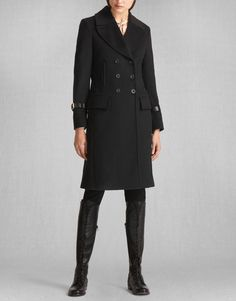 Liv Tyler Milburn Coat - Ink Blue Wool Women