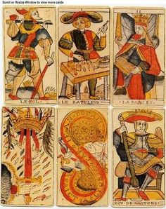 Tarot cards originated in Italy in the 15th Century & were used solely for gaming. It was not until the 18th Century that there is any evidence of an occult link & use for divination.