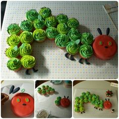 Cupcakes cakes pull apart horse 20 ideas for 2019 Pull Apart Cupcake Cake, Pull Apart Cake, Wedding Cupcakes, Birthday Cupcakes, 2nd Birthday, Animal Birthday, Birthday Ideas, Hungry Caterpillar Cupcakes, Cupcake Arrangements