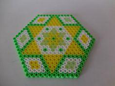"2 Coasters Hama Beads ""Spring Theme"" door TCAshop op Etsy https://www.etsy.com/nl/listing/228907297/2-coasters-hama-beads-spring-theme"