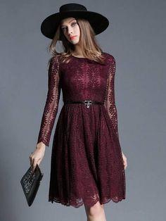 lace dress plum