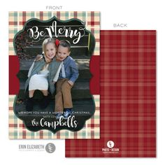 I love the look of the plaid for a Christmas card, how cute! This card is so festive and would be perfect to send out this Holiday season!