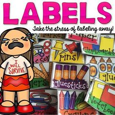 TeachToTell  from  SUPPLY LABELS: EDITABLE on TeachersNotebook.com -  (52 pages) - Take the stress away from labeling your classroom resources with this 32 ready-made bright colorful labels.
