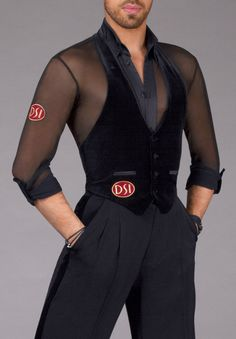 DSI Mens Gunnar Waistcoat 4021 | Dancesport Fashion @ DanceShopper.com