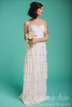 Fairy Tale Gown White lace wedding Made To Order by AmandaArcher, $775.00