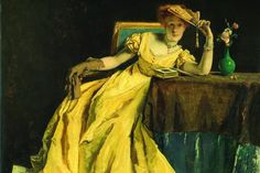 Alfred Stevens (Belgium, 1823-1906), The Lady in Yellow