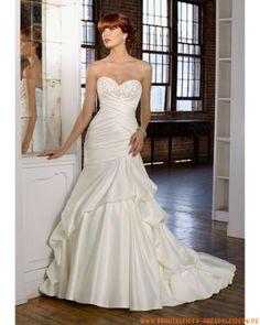 2012 Neue luxuriöse Brautmode aus Satin mit Schleppe