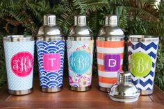 Personalized Cocktail Shakers Barware with by DarlingCustomDesigns