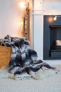 """Gray Mexican Blanket - The """"White Cloud"""" Gray, Silver, Black and White Bohemian Handmade Mexican Blanket - 2 DAY U.S.A. SHIPPING! by LindsayMarcella on Etsy https://www.etsy.com/listing/220132082/gray-mexican-blanket-the-white-cloud"""