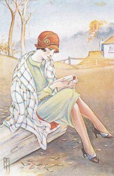 Takabatake Kasho 1920s Japanese Illustration, Children's Book Illustration, Japanese Design, Japanese Art, King Painting, Art Inspiration Drawing, Reading Art, Needlepoint Canvases, People Art