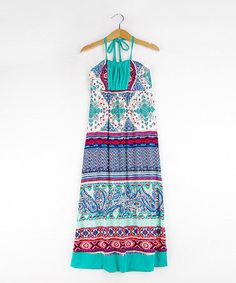 Look what I found on #zulily! Jade Paisley Halter Maxi Dress - Girls #zulilyfinds