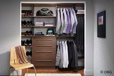 Organized reach-in closet from HomeORG.com
