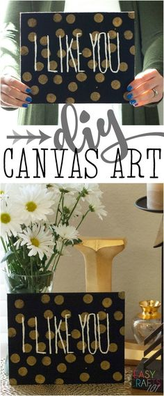 DIY Canvas Art: Easy painting craft that anyone can do - perfect for your mantel or your walls! Crafts canvas DIY Canvas Art: Easy Craft for Anyone - Easy Crafts 101 Easy Fall Crafts, Fun Crafts To Do, Easy Crafts For Kids, Summer Crafts, Simple Crafts, Fall Diy, Diy Crafts, Diy Canvas Art, Diy Wall Art