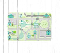 aqua gray and green cars playmat roads play rug kids play mat cars area rug town map play rug aqua cars rug for girls