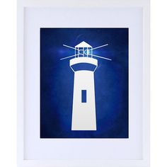 Náutica 8 x 10 Art Print - decoración para el hogar, pared decoración, decoración costera, Faro, luz casa, Beach Cottage pared arte Faro