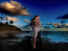 Dramatic wedding photos on the beach. Epic Imagery, Southern California.