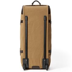 8ea2bf2ee882 Extra Large Rolling Duffle in Tan Front View Rolling Duffle Bag