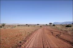 Dirt road on the way to a little town called 'Uis'. Namibia BelAfrique - Your Personal Travel Planner - www.belafrique.co.za